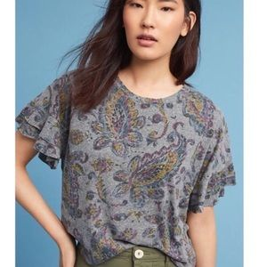 Anthropologie Soft Paisley Tee